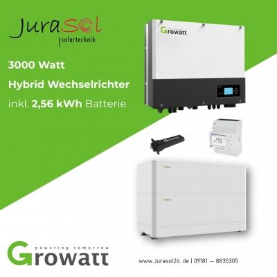 3000 Watt Hybrid Wechselrichter inkl. 2,56 kWh Batterie