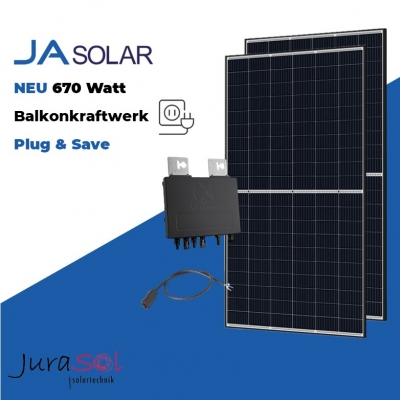 670 Watt Plug & Save Paket JA Solar & APSystems