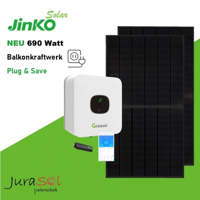 690 Watt Plug & Save Paket Jinko, Growatt