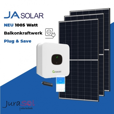 1005 Watt Plug & Save Paket JA Solar, Growatt
