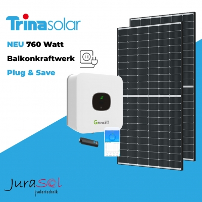 760 Watt Plug & Save Paket Trina, Growatt