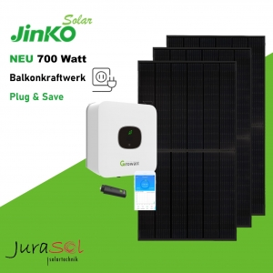 700 Watt Plug & Save Paket Jinko, Growatt