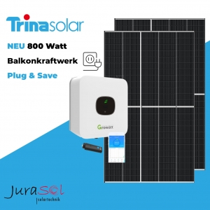 800 Watt Plug & Save Paket Trina Vertex, Growatt